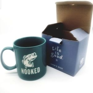 """life is good""Jake's Coffee Mug Green New🎣"